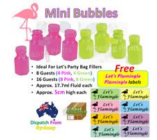 Flamingo Birthday Party Bubbles Loot Bag Favor Filler Tropical Hawaiian Supplies