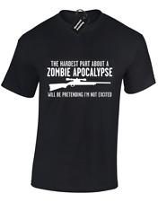Parte più difficile di Apocalisse Zombie Da Uomo T Shirt Walking Dead Fan Top S - 5XL