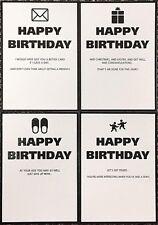 Humorous rude funny jokey Birthday Card ~ various designs ~ Small size 4.75x6.75