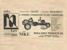 Vintage & Very Rare 1961 Nike Kart Go-Kart Ad