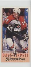 1993-94 Fleer Power Play #410 Dave Tippett Pittsburgh Penguins Hockey Card
