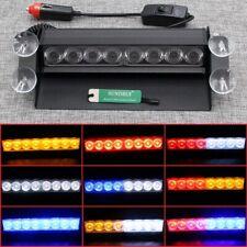 8 LED Strobe Bright Flashing Light Car Truck Dash Police Emergency 3 Modes Lamp