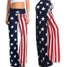Pantaloni donna bandiera USA flag yoga pants sportivi multicolor stelle DL-2256
