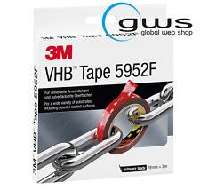 3M VHB Klebeband 5952F für anspruchsvolle Oberflächen, Schwarz, 19 mm