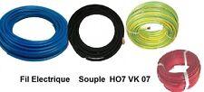 Fil électrique souple HO7-VK 10 mm²    5 mètres 4 Couleurs différentes