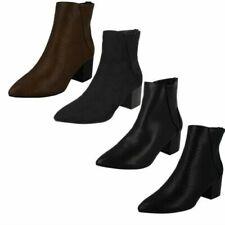 Ladies Spot On Heel Ankle Boot