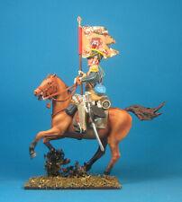Napoleonic Wars — Standard-bearer Light Dragoon — 60mm High quality Lead Figure