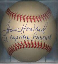 Frank Howard THE CAPITAL PUNISHER Autographed Signed OAL Baseball Senators COA