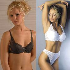Women's Ropa Interior Sosten Lace Underwire Padded Brasier White Black Plus Size