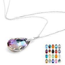 Collar hecho con cristal de Swarovski lágrima colgante regalo de anuncio de varios
