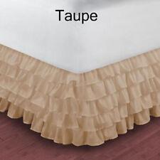 Taupe 1000TC Egyptian Cotton Split Corner Multi Ruffle Bed Skirt All Size/length