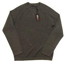 RLX Ralph Lauren Men's Grey Raglan Wool Blend Crew-Neck Pullover Sweater $195