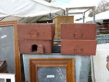 "c1900 vintage ANTIQUE PRIMITIVE blood red PIGEON carrying box 19.5"" sq x 8""h"