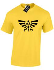 Cresta di Hyrule da Uomo T shirt Zelda Nintendo Mario Giochi Retrò Logo Geek Nerd