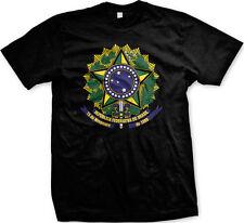 Brazil Coat of Arms Republica Federativa Do Brasil Emblem Flag Mens T-shirt