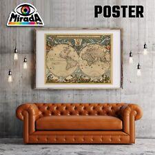 POSTER MAPPA  WORLD MAP OLD  04 CARTA FOTOGRAFICA QUALITA' 35x50 50x70 70x100