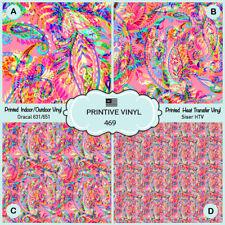 Ethnic Paisley Printed HTV,Adhesive Oracal Vinyl,Siser Heat Transfer Vinyl- 469
