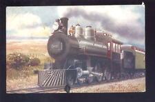 MISSOURI Kansas & Texas Rly Artist drawn Locomotive PPC