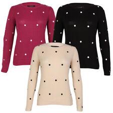 New Womens Amara Reya Balsam Ladies Long Sleeve Polka Dot Jumper Top Size 8-16