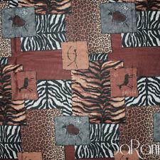 Tessuto Al Metro Taglio Patchwork Cotone Animalier Leopardato Cuscini SARANI