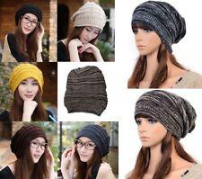 Unisex Fashion Winter Warm Knit Beanie Hat in Black Coffee Grey Cream Yellow