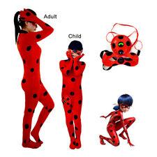 Miraculous Ladybug Kids Cosplay Costumes Lady Bug Girls Halloween Zentai Suit
