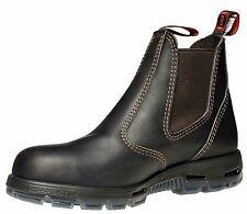 Redback Bobcat Elastic Sided Claret Oil Kip Steel Toe Work Boots USBOK