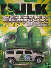 INCREDIBLE HULK  1/64 Die-Cast  2003 SIERRA MIST  Silver HUMMER H2 SUV  Maisto