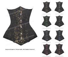 26 doppie stecche d'acciaio girovita Training broccato Underbust corsetto Shaper #H 8553 (bro)