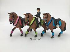 billessy - SATTEL SET NOBELL SCHLEICH PFERD ZUBEHÖR TRENSE HORSE CAVALLO - TOP!