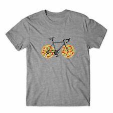 Pizza Bike Funny T-Shirt 100% Cotton Premium Tee NEW