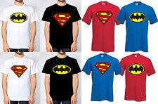 Batman & superman t-shirt coton noir royal red white tee shirt nouveau lot