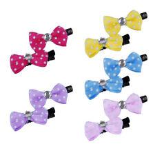 10Pcs/pack Mini Cute Bow Pet Dog Cat Hairpin Charm Ribbon Bowknot Hair Clip Wide