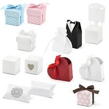 10 Stück - Geschenkboxen für Gastgeschenke auf Hochzeit und Taufe - 16 Modelle