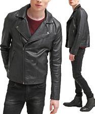 DE Herren Lederjacke Biker Men's Leather Jacket Coat Homme Veste En cuir R58c