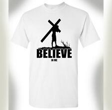 Believe In Me TShirt God Savior Prayer Faith Christian Bible Love Jesus Gift Tee