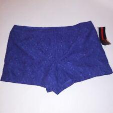 Sofia Vergara Womens Shorts Purple Lace Pockets