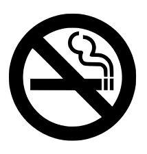 No Smoking Vinyl Sticker Decal Anti - Choose Size & Color