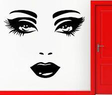 Wall Stickers Vinyl Decal Fashion Sexy Lips Eyes For Girls Women Teens (EM417)
