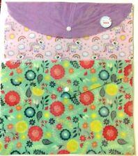 Floral /Unicorn Rainbow Pattern A4 Paper Document File Folder Storage Bag Office