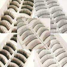 10 Pair False Fake Eyelashes Lashes Full Individual Mascara Makeup Thick Glam