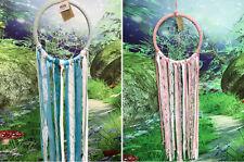 22cm blue / pink lace and ribbons dreamcatcher - dream catcher craft decor
