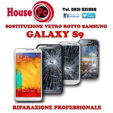 Sostituzione vetro rotto Galaxy S9 e S9 PLUS riparazione display LCD