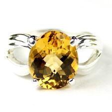 • SR361, 4.5 carat Natural Citrine, Sterling Silver Ladies Ring -Handmade