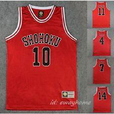 Slam Dunk Basketball SHOHOKU Jersey Cosplay Costume Athletic Apparel +free ship