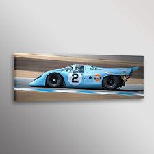 Gulf Porsche 917K Racecar Man Cave Photo Car Automotive Wall Art Canvas Print