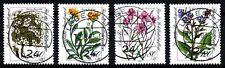 Bundespost 1188 - 1191 gestempeld  Bloemen