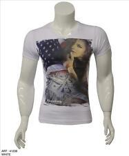 Black Rock Denim by Jeel T-Shirt *** Print Druck Shirt weiß Sterne Clubware