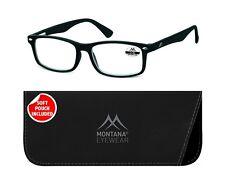 Montana MR83 Gafas de Lectura Negro +1,0 +1,5 +2,0 +2,5 +3,0+3,5 Dpt