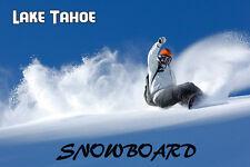 Snowboard Lake Tahoe California Ski US Winter Sport Vintage Poster Repro FREE SH